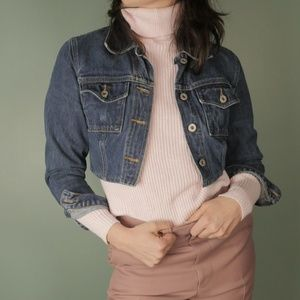 Super Cropped Guess Denim Jacket
